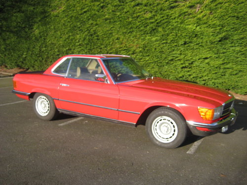 1982 Mercedes Benz 280SL 96,000 miles Signal Red. For Sale (picture 4 of 6)