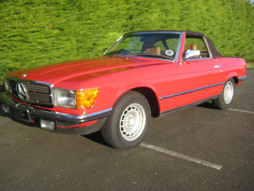 1982 Mercedes Benz 280SL 96,000 miles Signal Red. For Sale (picture 5 of 6)