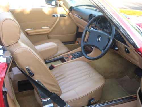 1982 Mercedes Benz 280SL 96,000 miles Signal Red. For Sale (picture 6 of 6)