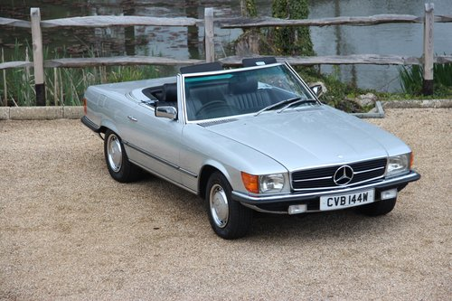 1980 Mercedes 350 SL Convertible with low mileage R107 model For Sale (picture 1 of 6)
