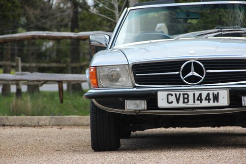 1980 Mercedes 350 SL Convertible with low mileage R107 model For Sale (picture 2 of 6)