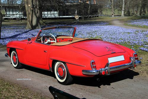 1960 Stunning red Mercedes 190 SL For Sale (picture 2 of 6)