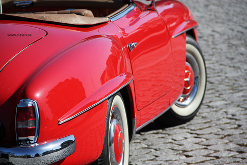 1960 Stunning red Mercedes 190 SL For Sale (picture 6 of 6)