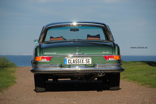 1972 Fully restored Mercedes 280SE 3,5 in mossgreen, manual LHD SOLD (picture 6 of 6)