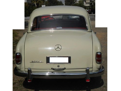 Mercedes benz 220S model 1959 with 6cyl engine SOLD (picture 6 of 6)