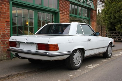 1986 Mercedes SL560 Convertible LHD  For Sale (picture 3 of 4)