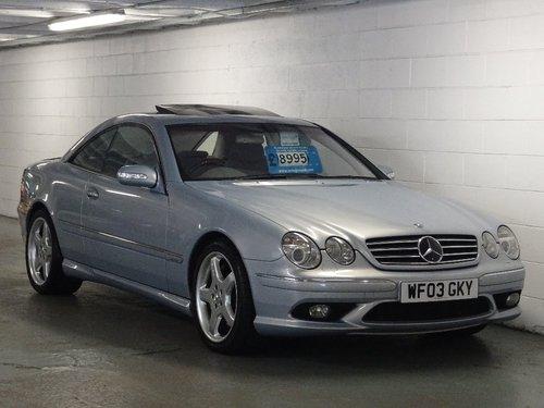 2003 Mercedes-Benz CL 5.5 CL600 2dr V12 BI-TURBO FULL AMG PACK FL For Sale (picture 1 of 6)