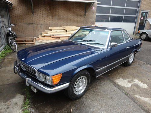 nice 1973 Mercedes 450 SL in blue For Sale (picture 1 of 6)