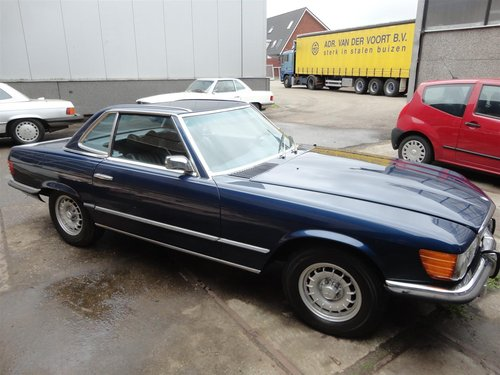 nice 1973 Mercedes 450 SL in blue For Sale (picture 2 of 6)