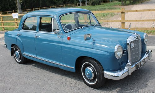 1960 Mercedes Benz Ponton 190b Saloon UK RHD Example SOLD (picture 1 of 6)