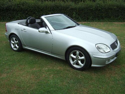 2000(W) Mercedes SLK320 V6 Convertible Brilliant Silver For Sale (picture 1 of 6)