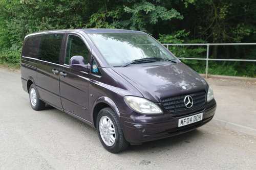 2004 Mercedes Vito Ambiente 111 CDi LWB Panel Van. 5 Seats Diesel SOLD (picture 1 of 6)