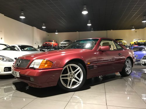 1995 Mercedes 500 SL RED WITH CREAM LEATHER 18INCH ALLOYS For Sale (picture 1 of 6)