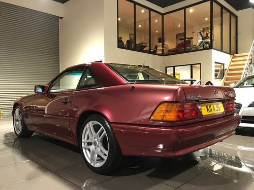 1995 Mercedes 500 SL RED WITH CREAM LEATHER 18INCH ALLOYS For Sale (picture 2 of 6)