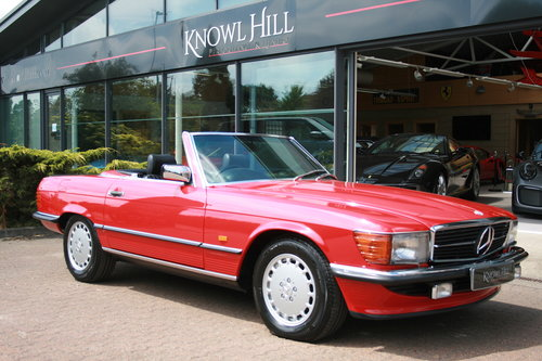 1988 Mercedes-Ben 500SL - Signal Red - 52,892 mild For Sale (picture 1 of 6)