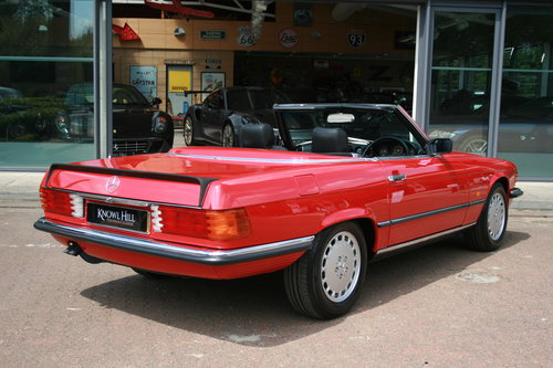 1988 Mercedes-Ben 500SL - Signal Red - 52,892 mild For Sale (picture 3 of 6)