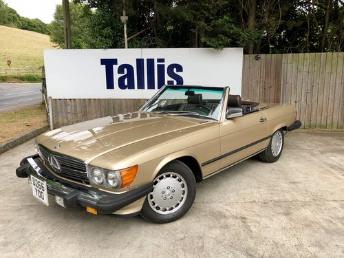 1987 Rare left hand drive Mercedes 560SL 69,000m SOLD (picture 2 of 6)