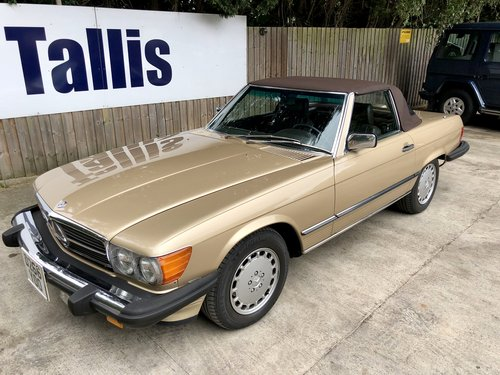 1987 Rare left hand drive Mercedes 560SL 69,000m SOLD (picture 5 of 6)
