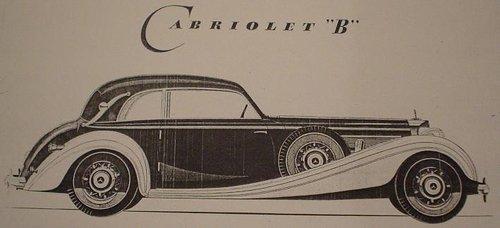 1938 Mercedes-Benz 540K Kabriolet B For Sale (picture 1 of 1)