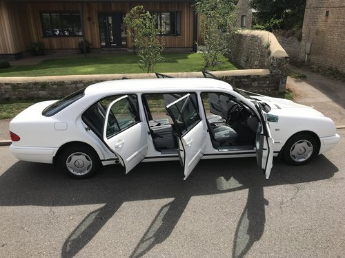 1998 Mercedes 6 Door Limousine E250D (In White) For Sale (picture 2 of 6)