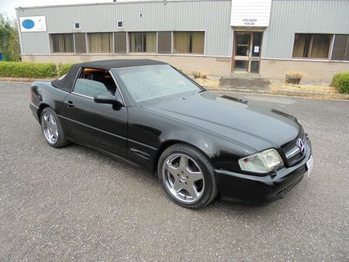 MERCEDES BENZ SL500 LHD (2000) BLACK/BLACK! AMG WHEELS/KIT!  SOLD (picture 1 of 6)