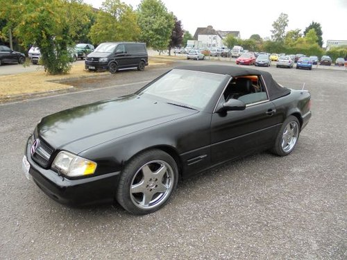 MERCEDES BENZ SL500 LHD (2000) BLACK/BLACK! AMG WHEELS/KIT!  SOLD (picture 2 of 6)
