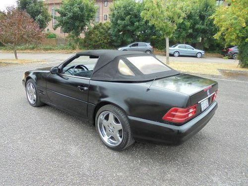 MERCEDES BENZ SL500 LHD (2000) BLACK/BLACK! AMG WHEELS/KIT!  SOLD (picture 5 of 6)
