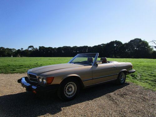 1982 Mercedes R107 380sl LHD 112k miles. For Sale (picture 1 of 6)