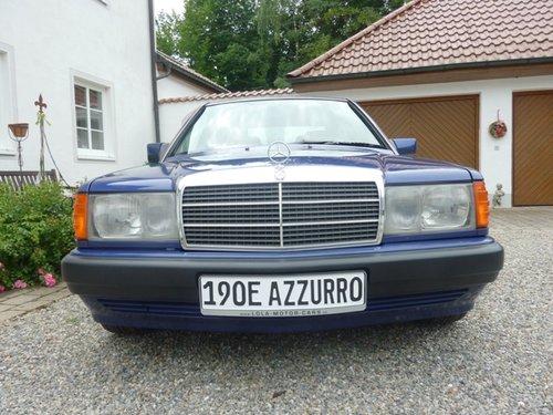 1992 MERCEDES 190E 2.3 | Avantgard Sportline | AZZURRO | LHD For Sale (picture 4 of 6)