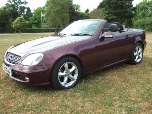 2001 Mercedes SLK320 V6 Convertible only 20000 miles SOLD (picture 1 of 6)
