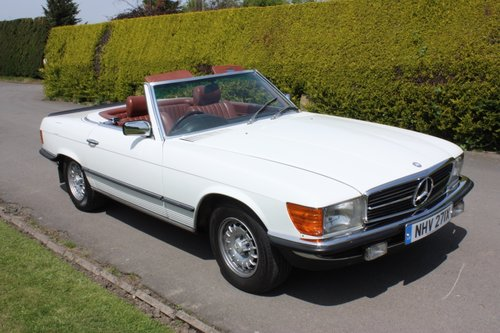 1982 Mercedes 500SL W107 only 32,000 miles -immaculate For Sale (picture 3 of 6)