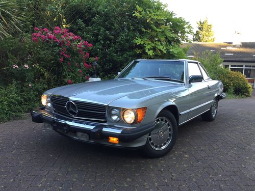 Mercedes 560SL 1986 one owner 84000mls For Sale (picture 1 of 6)