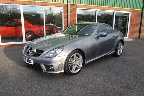 2008 Mercedes SLK 55 AMG Convertible in Palladium Silver SOLD (picture 1 of 6)