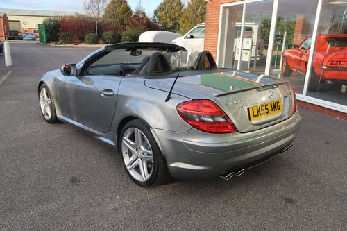 2008 Mercedes SLK 55 AMG Convertible in Palladium Silver SOLD (picture 3 of 6)
