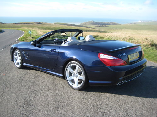 2014 Mercedes Benz SL350 AMG Sport Panoramic In Cavansite Blue For Sale (picture 5 of 6)
