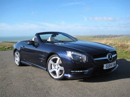 2014 Mercedes Benz SL350 AMG Sport Panoramic In Cavansite Blue For Sale (picture 1 of 6)