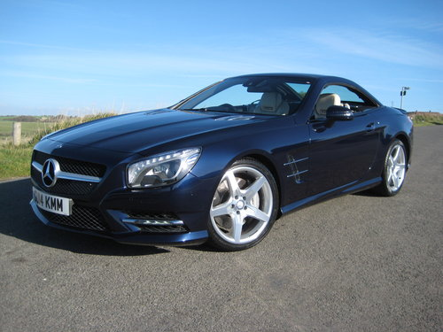 2014 Mercedes Benz SL350 AMG Sport Panoramic In Cavansite Blue For Sale (picture 2 of 6)