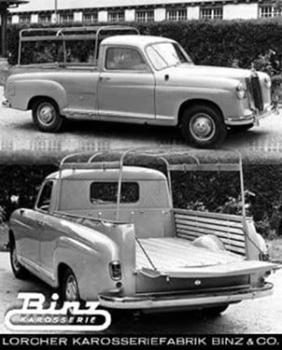 1955 Mercedes-Benz - RARE W180 BAKKIE PONTON , First Pick-up made For Sale (picture 2 of 6)
