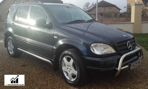 2000 Mercedes ML, 5.5 litre, AMG Wheels, 1 Owner, 57,000 miles For Sale (picture 1 of 6)
