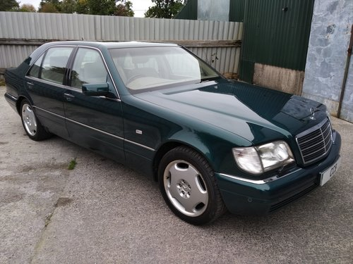 Mercedes S420L LWB Saloon 4.2 Litre 1998S - ONLY 27000 miles For Sale (picture 1 of 6)