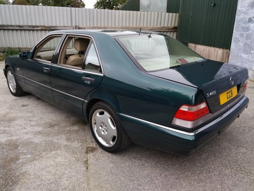 Mercedes S420L LWB Saloon 4.2 Litre 1998S - ONLY 27000 miles For Sale (picture 2 of 6)