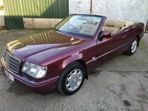 Mercedes E320 Sportline Cabriolet 3.2 litre 6 Cyl 1996N For Sale (picture 1 of 6)
