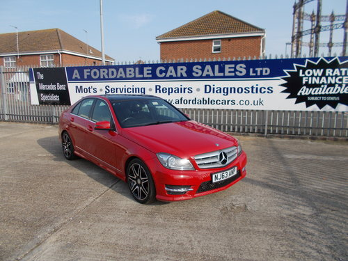 2013 Mercedes-Benz C220 CDi AMG Sport Plus. VeryLow Miles. For Sale (picture 1 of 6)