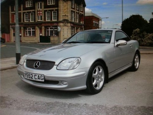 2001 MERCEDES SPORT CABRIOLET SLK 200K Tip Auto Very Low Miles For Sale (picture 1 of 5)