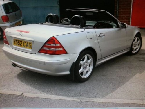 2001 MERCEDES SPORT CABRIOLET SLK 200K Tip Auto Very Low Miles For Sale (picture 4 of 5)