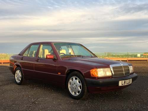 1993 Mercedes 190E Auto at Morris Leslie Auction 23rd February SOLD by Auction (picture 1 of 6)