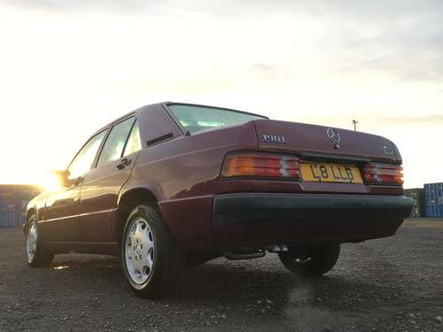 1993 Mercedes 190E Auto at Morris Leslie Auction 23rd February SOLD by Auction (picture 2 of 6)