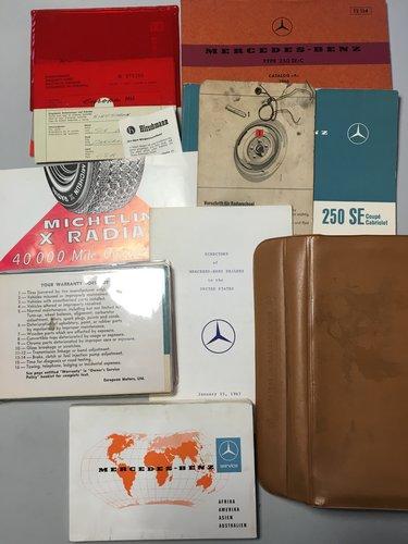 1967 MERCEDES 250SE CONVERTIBLE CABRIO se For Sale (picture 5 of 6)