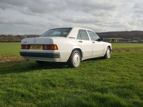 Mercedes 190D Diesel 5sp Manual Full Service History 1991 For Sale (picture 2 of 6)