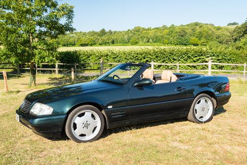 2001 Mercedes Benz SL320 Designo in Allanite Green For Sale (picture 1 of 6)